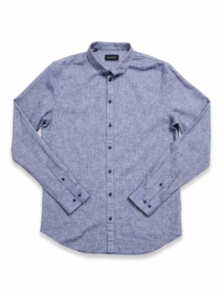GABBA-BROOKS LINEN L/S SHIRT-BLUE-MEL