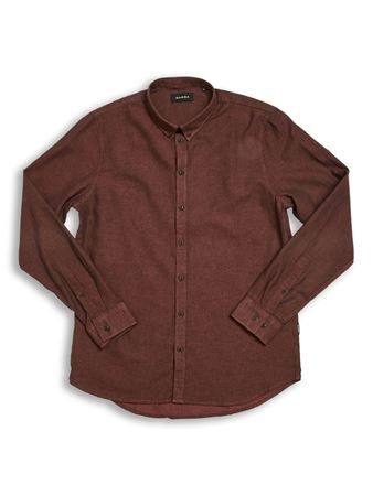 GABBA-BROOKS LINEN L/S SHIRT-BRICK-RED