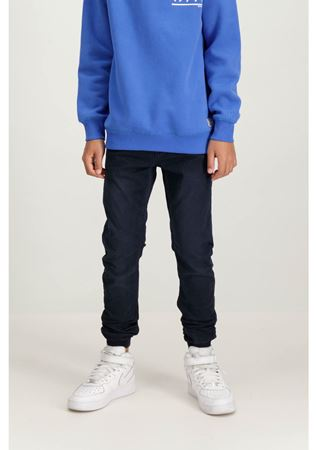 GARCIA-BLUE TAPERED FIT TROUSERS-BLUE