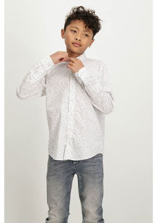 GARCIA-ALLOVER PRINTED WHITE SHIRT WITH LONG SLEEVES-WHITE