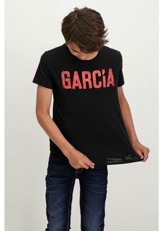 GARCIA-SHORTSLEEVE T-SHIRT WITH A TEXT PRINT-BLACK