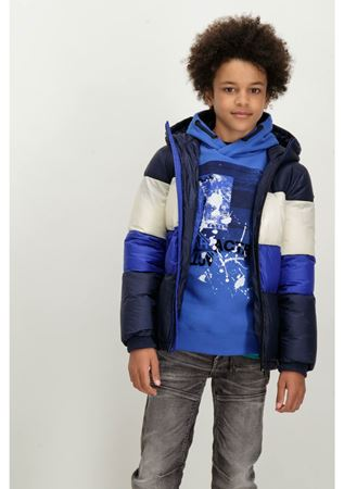 GARCIA-GJ830804_BOYS OUTDOOR JACKET-BLUE BLACK