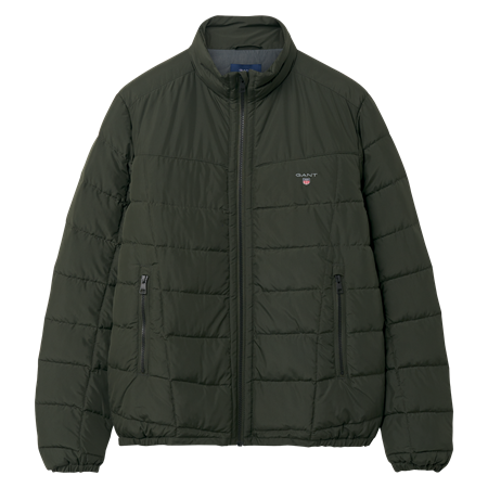 GANT-O1. THE CLOUD JACKET-COUNTRY GREEN