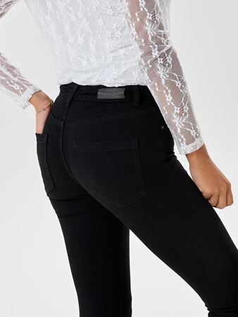 BLUSH SKINNY FIT ANKEL JEANS - BLACK DENIM