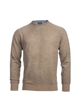 HANSEN&JACOB-MERINO STRUCTURE KNIT-LT-BROWN