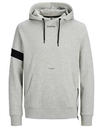 JACK&JONES-URBAN SWEATSHIRT-LIGHT-GREY-MELANGE