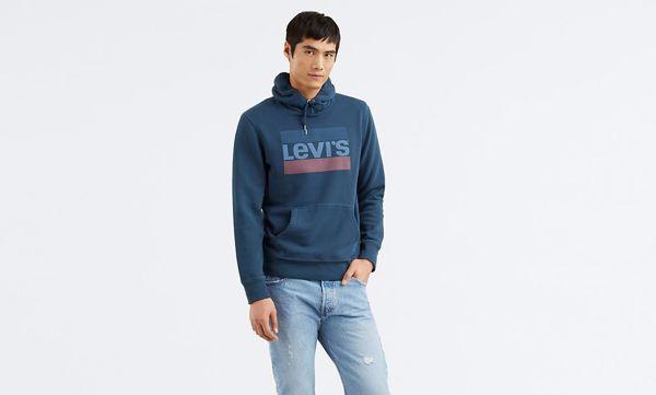 LEVI'S-GRAPHIC HOODIE-BLUE