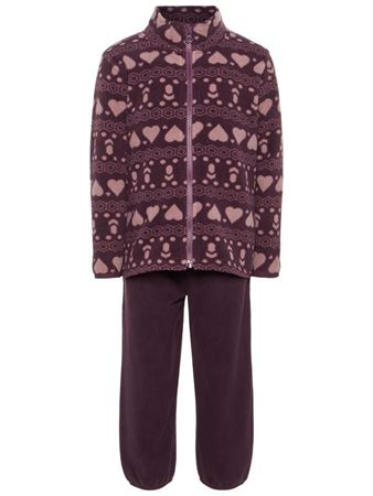 NAME IT-MINI PUSTENDE FLEECESETT-LILLA/PRUNE-PURPLE