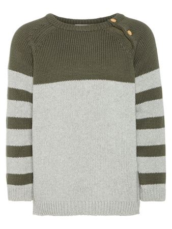 NAME IT-MINI CHUNKY STRIKKET PULLOVER-GRÅ/GREY-MELANGE