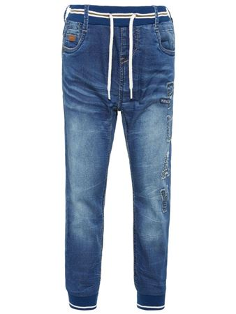 NAME IT-MINI BAGGY FIT PULL-ON JEANS-BLÅ/MEDIUM-BLUE-DENIM