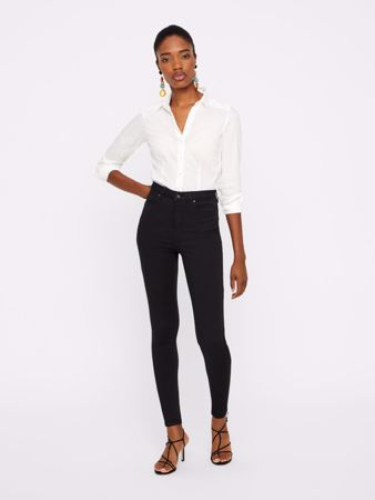 SOPHIA HIGH WAIST SKINNY FIT JEANS - BLACK