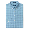 GANT-REGULAR BROADCLOTH THREE-COLOR GINGHAM SHIRT-COLLEGE-BLUE