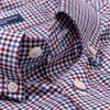 GANT-REGULAR BROADCLOTH THREE-COLOR GINGHAM SHIRT-RHODODENDRON