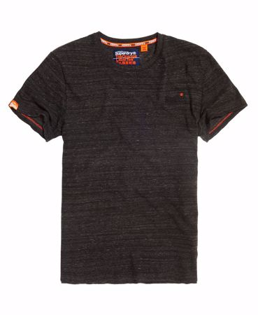 SUPERDRY-ORANGE LABEL VINTAGE BRODERT T-SKJORTE-ENORM-SVART-SPACE-DYE