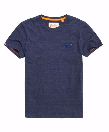 SUPERDRY-ORANGE LABEL VINTAGE BRODERT T-SKJORTE-ATLANTISK-MARINEBLÅ-SANDSTEIN