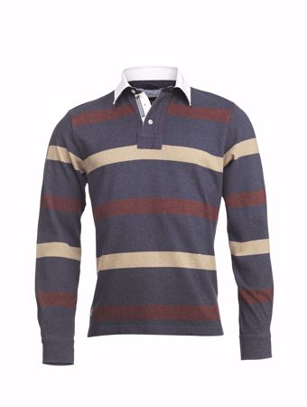 HANSEN&JACOB-ALLOVER STRIPE RUGGER-NAVY