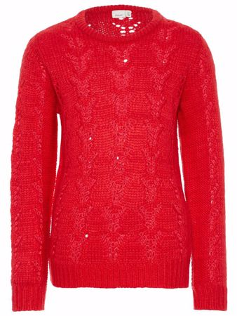 NAME IT-KIDS STRIKKET PULLOVER-RØD/TRUE-RED