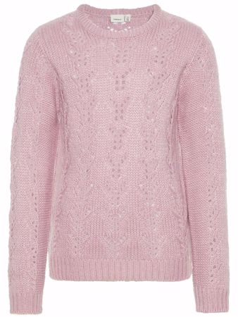 NAME IT-KIDS STRIKKET PULLOVER-ROSA/DAWN-PINK