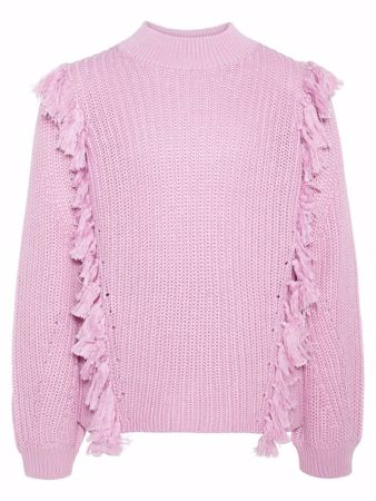 NAME IT-KIDS FRYNSE STRIKKET PULLOVER-MAUVE-MIST