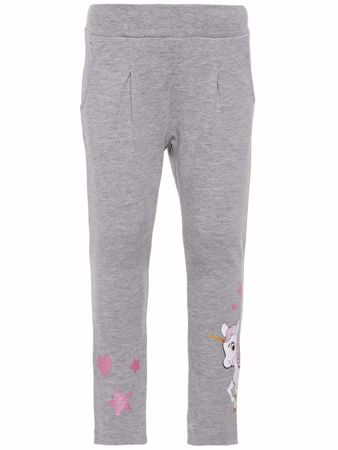 NAME IT-MINI PONNIPRINT SWEATBUKSER-GREY-MELANGE