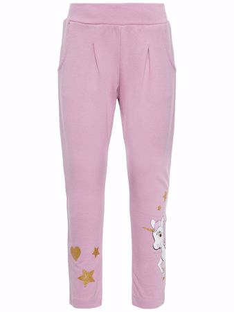 NAME IT-MINI PONNIPRINT SWEATBUKSER-MAUVE-MIST