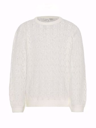 NAME IT-KIDS LØS STRIKKET STRIKKET PULLOVER-SNOW-WHITE