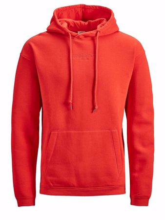 JACK&JONES-CROSSOVER SWEATSHIRT-FIERY-RED