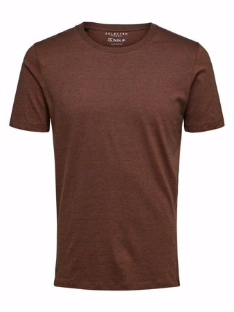 SELECTED HOMME-O-HALS T-SKJORTE-GLAZED-GINGER