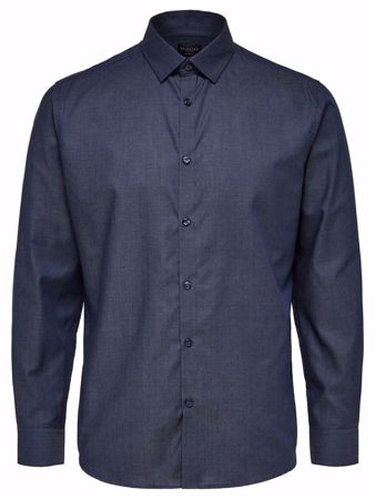 SELECTED HOMME-KLASSISK - SKJORTE-DARK-BLUE