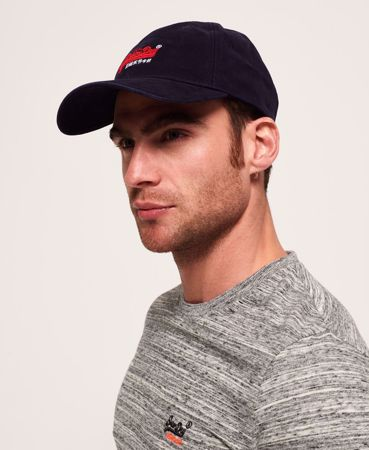 SUPERDRY-ORANGE LABEL TWILL-CAPS-MARINEBLÅ
