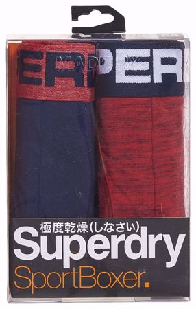 SUPERDRY--RICHST NVY/BRIGHT RED SPCDYE