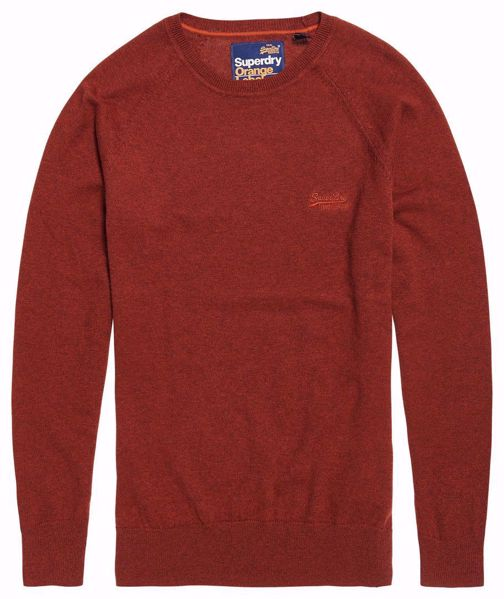 SUPERDRY orange label cotton crewneck