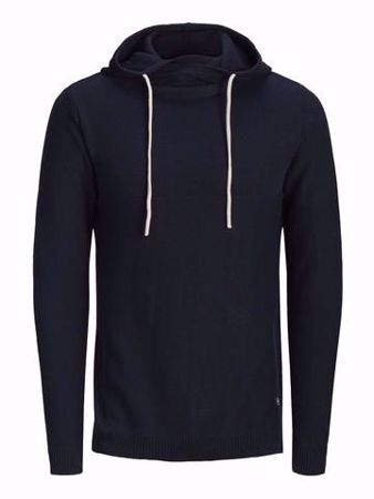 JACK&JONES- ERIS KNIT HOOD -TOTAL ECLIPSE