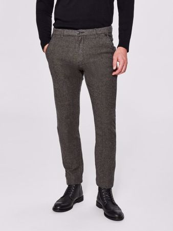 ARVAL HUNDSTOOTH SLIM FIT BUKSER - GREY