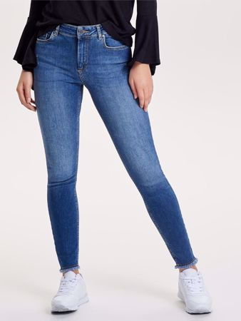 BLUSH SKINNY FIT ANKEL JEANS - BLUE