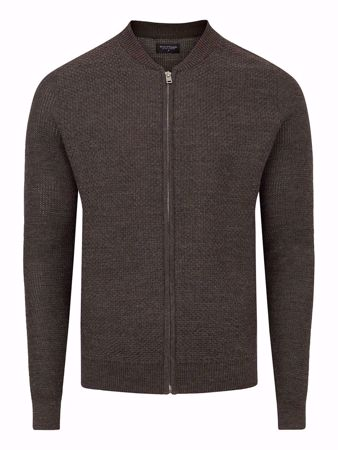 BRUUN & STENGADE ULLCARDIGAN BROWN