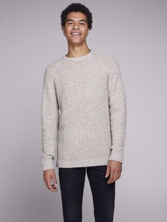 JACK&JONES-RBRAD KNIT CREW NECK-MOONBEAM