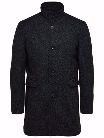 SELECTED HOMME-SLHMOSTO WOOL COAT B NOOS-BLACK