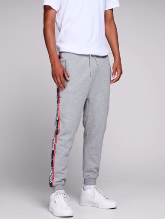 TAPE JOGGEBUKSE - LIGHT GREY MELANGE