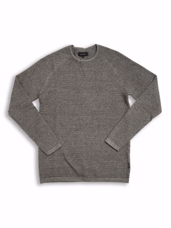 GABBA-HARRY V2 O-NECK KNIT - GREY MEL