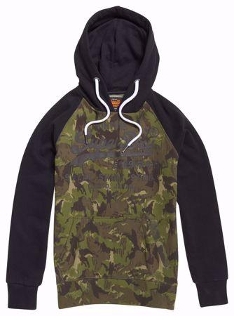 Superdry Kamuflasjefarget Hettegenser /  hoodie - Camo/Black