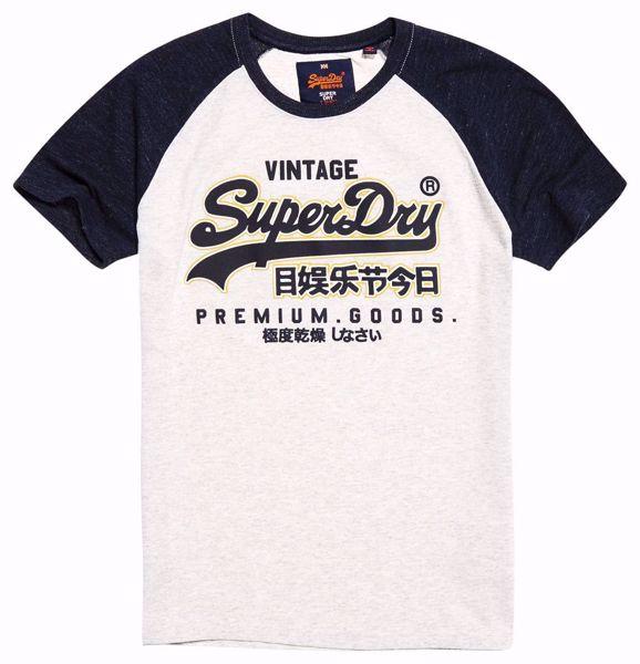Superdry Hvit T-Skjorte --Superdry Stadium Slvr/Bss Blue Grndl