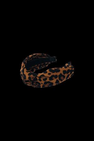Picture of BLACK COLOUR-HEADBAND LEO BROWN-LEOPARD
