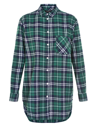 Soaked in Luxury-Sx Dorte Checked Shirt ls-Candy Green Che