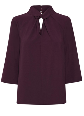 Soaked in Luxury-Odetta Blouse-Potent Purple