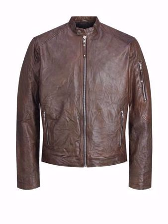 Jack&Jones-RICHARD LEATHER-Brown Stone