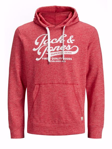Jack&Jones-PANTHER SWEAT HOOD Tango Red