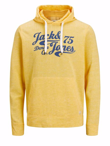 Jack&Jones-PANTHER SWEAT HOOD -Goldfinch