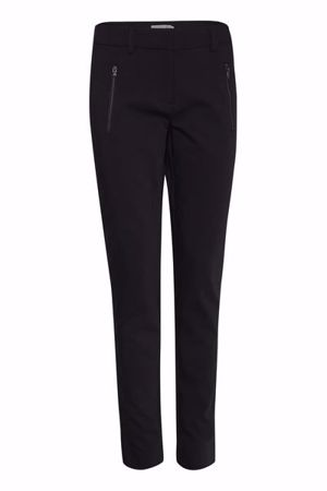 Picture of Fransa-Zapant  Pants Solid-Black