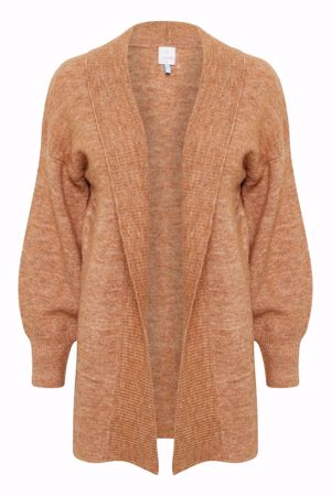 Culture-Camelia Long Cardigan-Almond